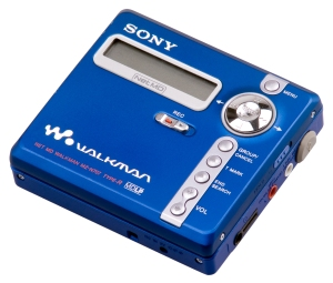 This is a Sony MiniDisc, I think. Just imagine the comfort of having one of these attached to your arm!